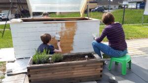 Montessori Homeschooling Hochbeet